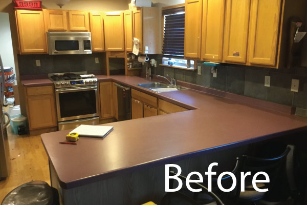 Countertop Before picture